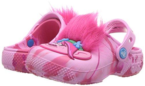 Crocs unisex Kids' Fun Lab Trolls Clog , party pink