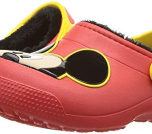 crocs Unisex Fun Lab Lined Mickey Mouse Clog flame