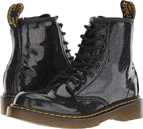Dr. Martens Kid's Collection Girl's Patent Glitter Junior Delaney Boot