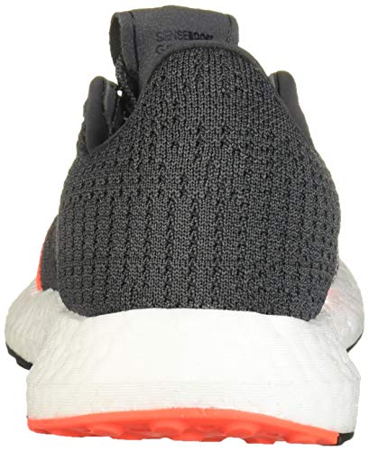 adidas Unisex-Kid's SenseBOOST GO Running Shoe, Grey/Black/Solar Red Juniors' trainers with a cushioned midsole for energetic consolation Regular match; Lace closure; Locked-down really feel Knit higher gives breathability Responsive Boost midsole; Soft textile lining for consolation Soft rubber outsole supplies safe traction Built for a locked-down really feel, these juniors' trainers function a form-fitting knit higher that provides assist in key zones as you progress. The cushioned Boost midsole supplies power return with every stride. A gentle rubber outsole gives superior grip on the observe.