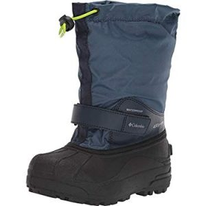 Columbia Unisex-Kid's Youth Powderbug Forty Snow Boot, Whale/Fission