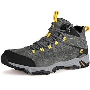Hiking Boots for Men Breathable Climbing Trekking Shoes Outdoor Sports High-Top Traveling Sneakers (3520 Grey,13)