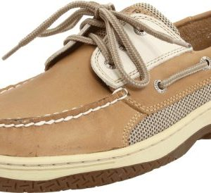 Sperry Mens Billfish 3-Eye Boat Shoe, Tan/Beige