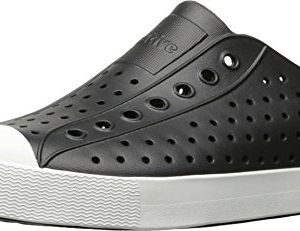 Native Unisex Jefferson Fashion Sneaker, Jiffy Black/Shell White