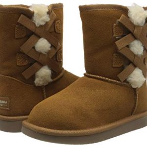 Koolaburra by UGG Girls' Victoria Short Fashion Boot, Chestnut