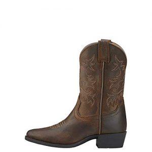 ARIAT Kid's Heritage Western Western Boot Brown