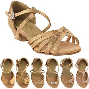 50 Shades of Girls Dance Shoes: 1670CG:Brown Satin:1.5""