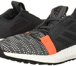 adidas Unisex-Kid's SenseBOOST GO Running Shoe, Grey/Black/Solar Red