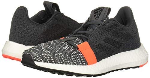 adidas Unisex-Kid's SenseBOOST GO Running Shoe, Grey/Black/Solar Red
