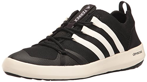 adidas outdoor Men's Terrex Climacool Boat Water Shoe, Black/Chalk White/Black