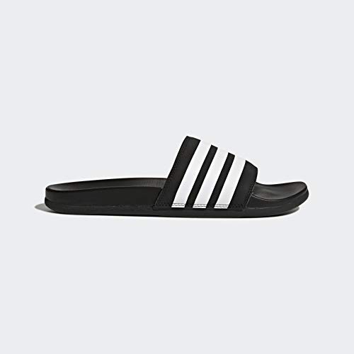 adidas Men's Adilette Comfort Slide, Black/White/Black
