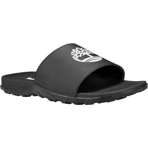 Timberland Men's Fells Sport Slide Sandal, Black with White