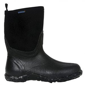 Bogs Men's Classic Mid Waterproof Insulated Rain Boot, Black
