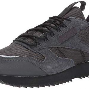 Reebok Men's Classic Leather Ripple Trail Sneaker, Grey/Black/Panton