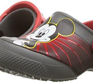 Crocs Kids' Fun Lab Mickey 90th Birthday Clog, Slate Grey