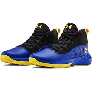 Under Armour Kids' Pre School Lockdown 4 Basketball Shoe, Royal