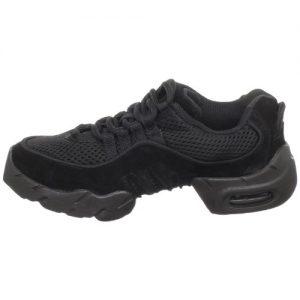 Bloch Girls' Boost MESH Sneaker, Black, 3 X(Medium)