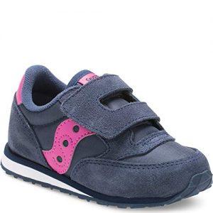Saucony Girls' Baby Jazz HL Sneaker, Navy/Pink