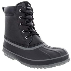 LONDON FOG Mens Ashford Waterproof and Insulated Duck Boot Black