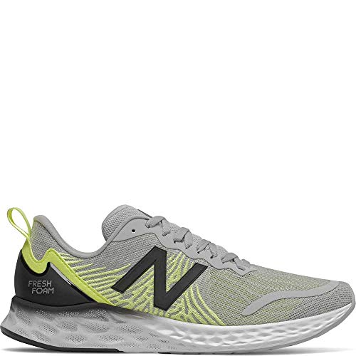 New Balance Men's Tempo V1 Fresh Foam Running Shoe, RAIN Cloud/Lemon Slush