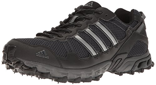 adidas Men's Rockadia Trail M Running Shoe, Black/Black/Dark Grey Heather, 11.5 M US