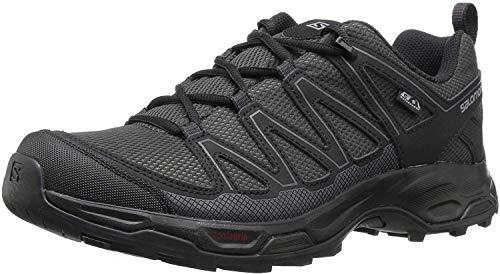 Salomon Men's Pathfinder Mid ClimaSheild Waterproof Hiking Shoes, Phantom/Black/Magnet, 12 M US