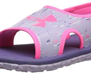 Under Armour Kids' Pre School Fat Tire III Slide Sandal, Purple Luxe