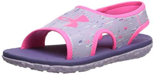 Under Armour Kids' Pre School Fat Tire III Slide Sandal, Purple Luxe