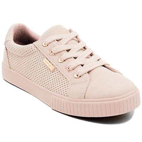 Nautica Girls Kids Fashion Sneaker Low-Top Lace Up Sneaker-Steam Girls-Mineral